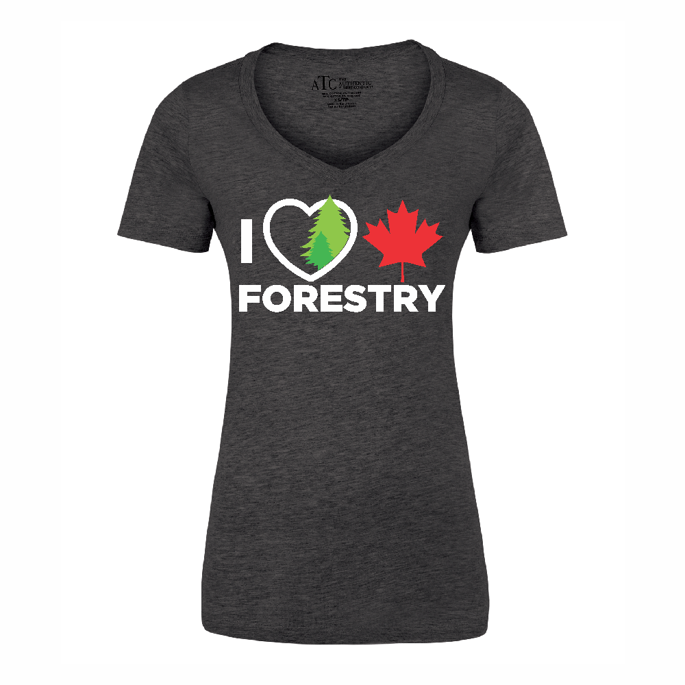 'I Love Canadian Forestry' Women's V-neck