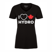 'I Love Canadian Hydro' Women's V-neck