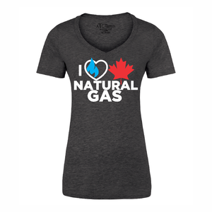 'I Love Canadian Natural Gas' Women's V-Neck