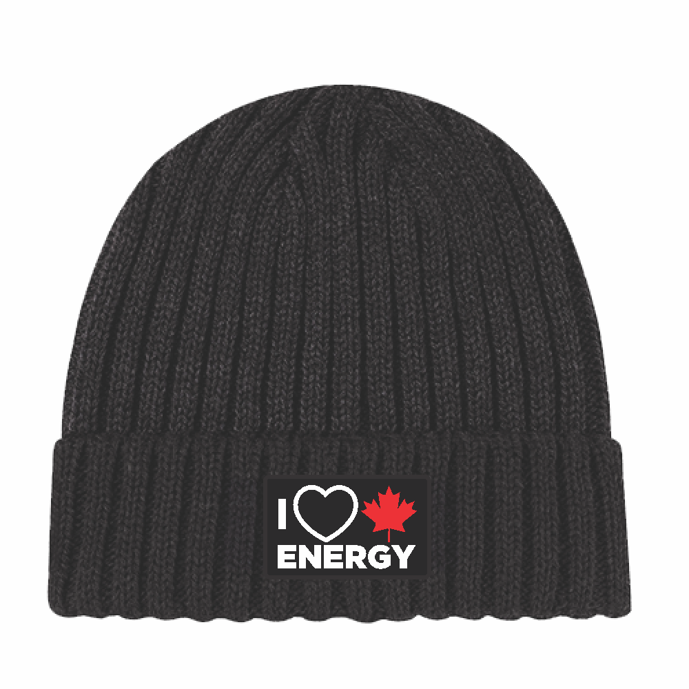 'I Love Canadian Energy' Chunky Waffle Knit Toque
