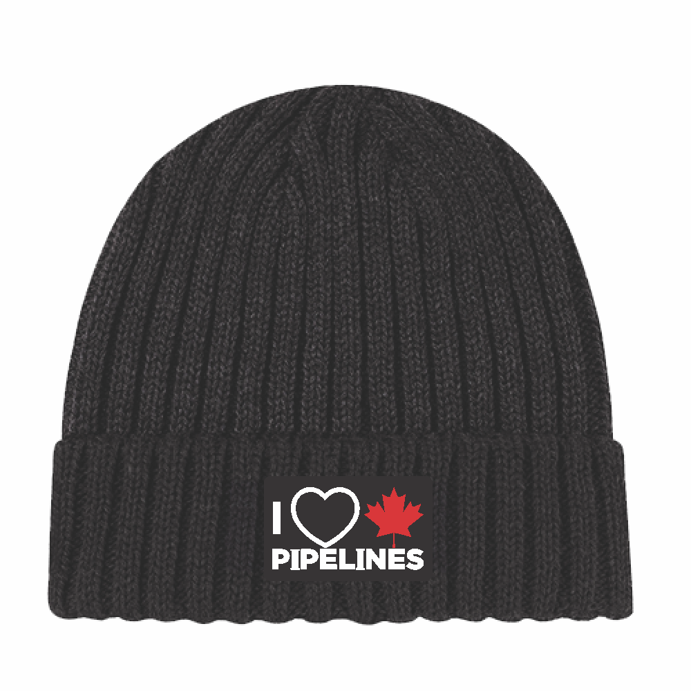 'I Love Canadian Pipelines' Chunky Rib Knit Toque
