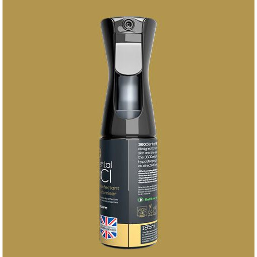 360 HOCl Atomiser Bottle With Multi Purpose Oxidising Biocidal Mouthwash/Surface Disinfectant/Fogging Solution
