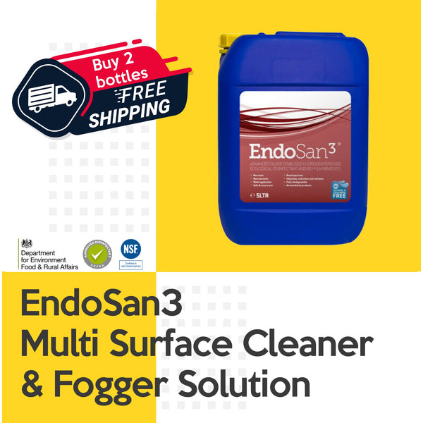 EndoSan3 Multi Surface Cleaner & Fogging Solution 5 Litre 3% Silver Stabilised Hydrogen Peroxide