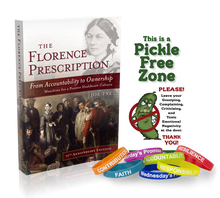 Load image into Gallery viewer, The Florence Prescription, Self Empowerment Pledge Wristbands & Pickle Free Zone Door Hanger