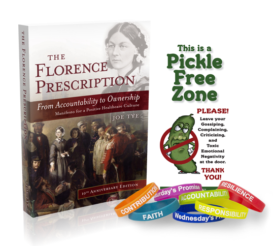 The Florence Prescription, Self Empowerment Pledge Wristbands & Pickle Free Zone Door Hanger