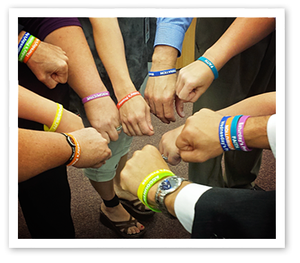 The Self Empowerment Pledge wrist bands