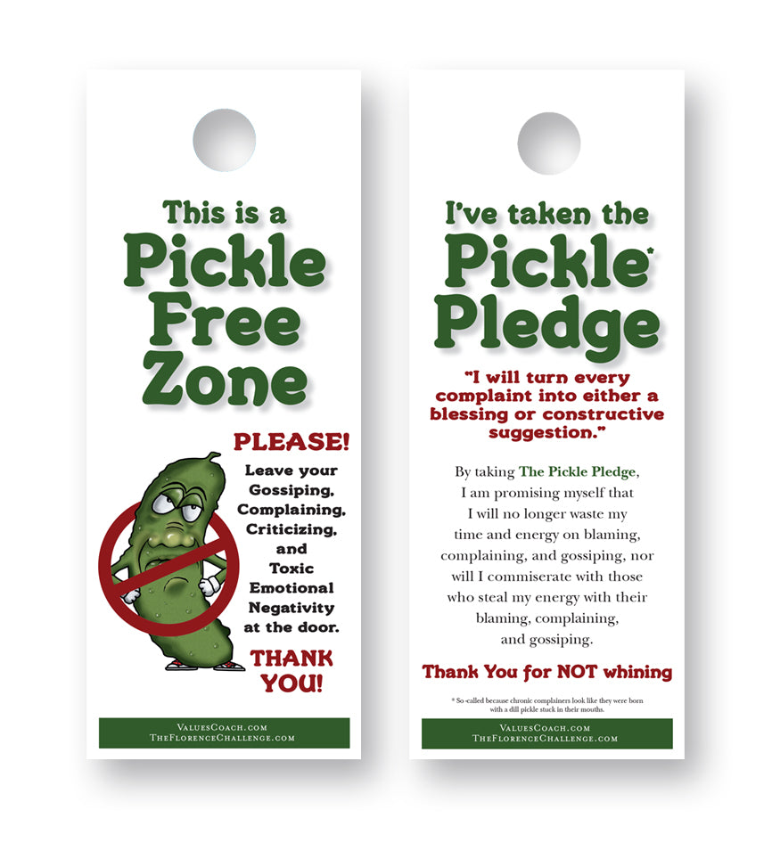 Pickle Free Zone Door Hanger