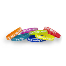 Load image into Gallery viewer, The Self Empowerment Pledge wrist bands