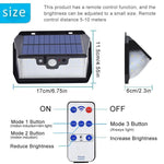 55 LED Solar Lamp 800LM USB Charging With Remote Control