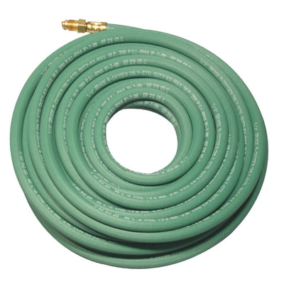 "Best Welds 1/4"" x 25' Single Green Argon Hose"