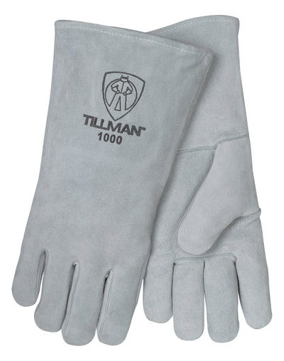 "Tillman Split Cowhide 14"" Welding Gloves - Pearl - 1000"