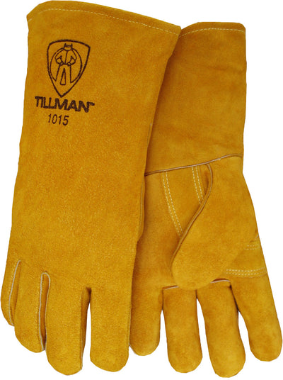 "Tillman Split Cowhide 14"" Welding Gloves - Blue - 1015"