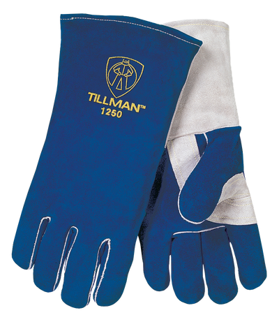 "Tillman Premium Split Cowhide 14"" Welding Gloves - Blue - 1250"