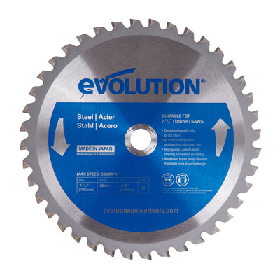 "Evolution 7 1/4"" Steel Cutting Blade"