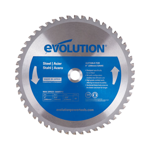 "Evolution 8"" Steel Cutting Blade"