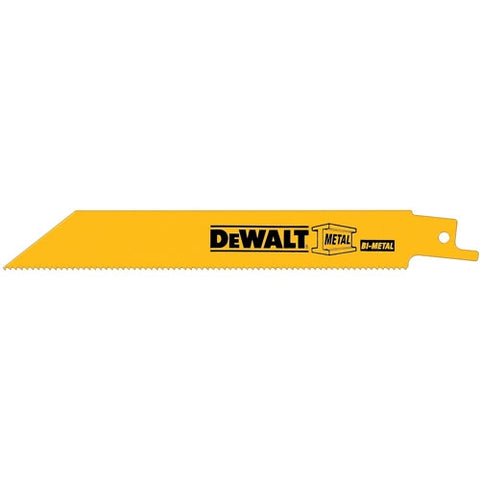 "DEWALT 12"" 10/14-TPI Straight Back Bi-Metal Reciprocating Blade"