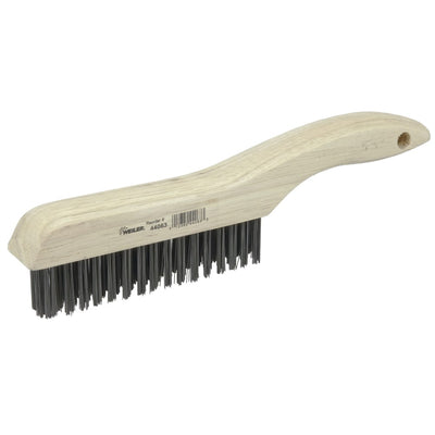 "Weiler 10"" Scratch Brush Wood Handle"