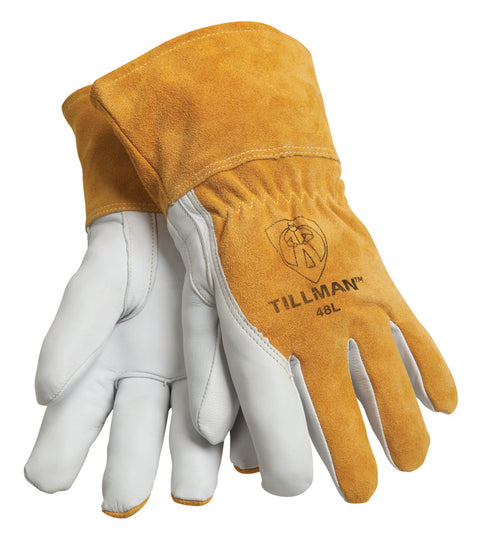 Tillman Fleece Lined Goatskin/Split Back MIG Welding Glove - 48