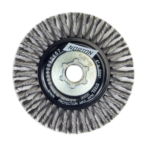 Norton BlueFire Heavy Duty Wire Wheel, 6 7/8""