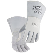 Black Stallion FR Nomex® Lined Pearl White Elkskin Stick Welding Glove