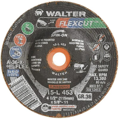 "Walter FLEXCUT™  Blending Disc 4-1/2"" x 5/8""-11 GR:36 Spin-on"