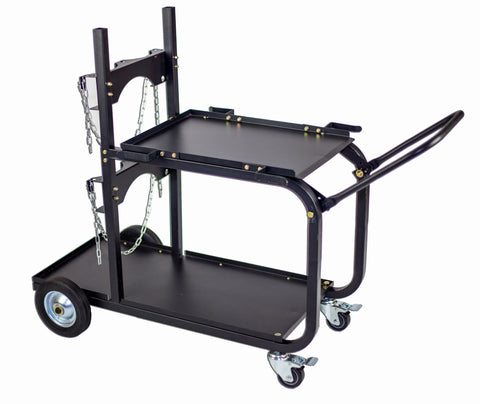 Metal Man Single/Dual Bottle Heavy Duty Welding Cart w/Handle