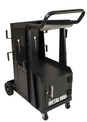 Metal Man Three-Tier Welding Cart & Cabinet