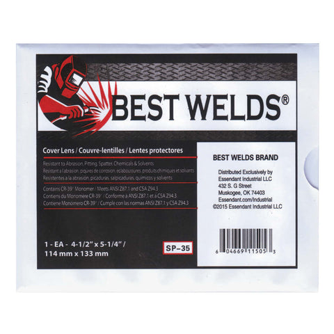 "Best Welds 4-1/2"" x 5-1/4"" CR-39 Cover Lens"