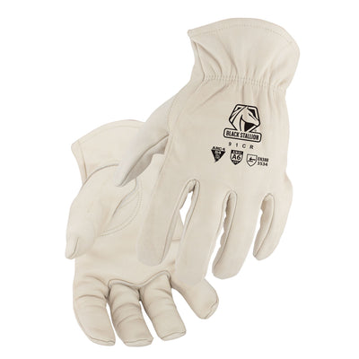 Black Stallion A6 Cut Resistant Grain Cowhide Drivers Glove