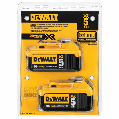 DEWALT MAX XR 5.0AH 20v Battery Pack