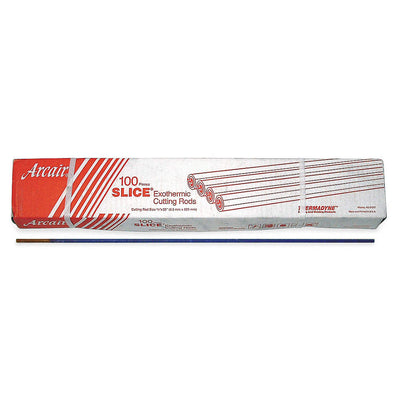 "Arcair 1/4"" x 22"" Slice® Mild Steel Flux-Coated Exothermic Cutting Rod"