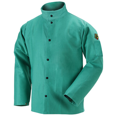 Black Stallion FR Green Welding Jacket 9 oz.