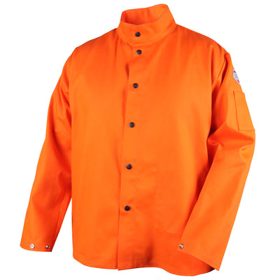 Black Stallion FR Orange Welding Jacket 9 oz.