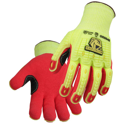 Black Stallion AccuFlex™ A6 Cut & Impact Resistant Hi-Vis Nitrile-Coated Knit Glove