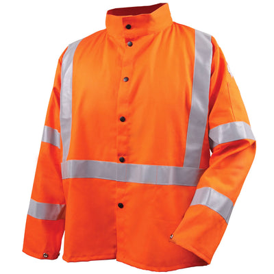 Revco Safety Welding Jacket w/ FR Reflective Tape, Safety Orange