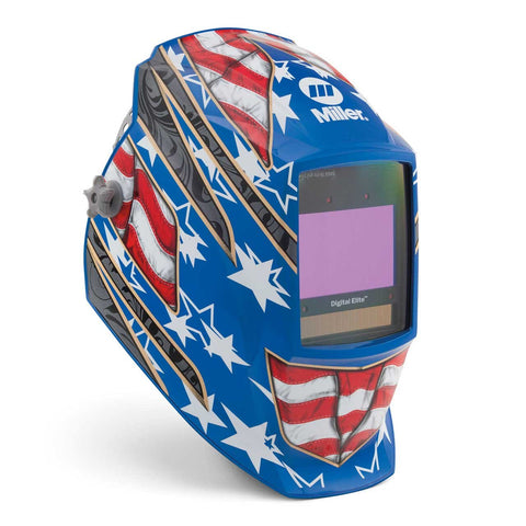 Miller Digital Elite Auto Darkening Welding Helmet Stars and Stripes