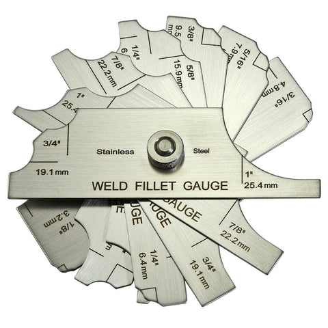 Anchor Weld Fillet Gauge Set