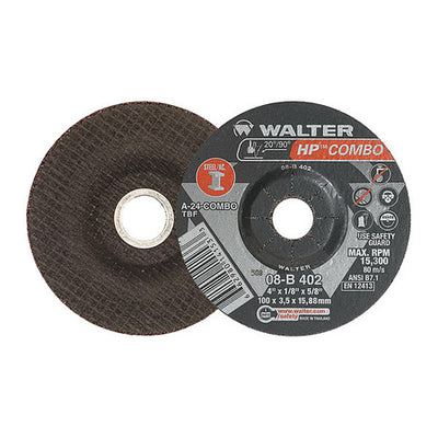 "Walter HP COMBO™ Grinding Wheel 4"" x 1/8"" x 5/8"" T27 GR: A24COMBO"