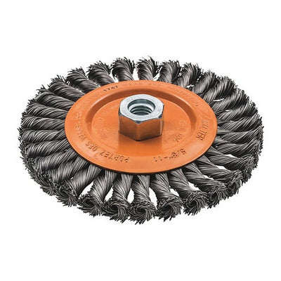 Walter Wide Wheel Brush Knot-Twisted Wire -Choose Your Size