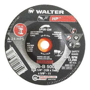 "Walter HP™ Spin On Grinding Disc 5"" x 1/4"" x 5/8""-11 T27S GR: A24HPS"