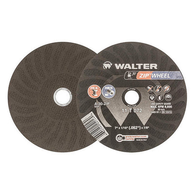 "Walter Zip Wheel™ Cutting Wheel 7"" x 1/16"" x 7/8"" T1 GR: A-30-ZIP"