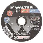 "Walter ZIP+XTRA™ Cutting Wheel 4-1/2"" x 1/16"" x 7/8"" T1 GR: A-46-ZIP"