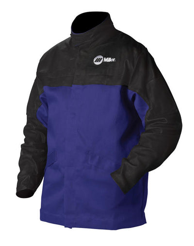 Miller INDURA® Cotton/Leather Combo Welding Jacket