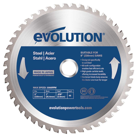 "Evolution 9"" Steel Cutting Blade"