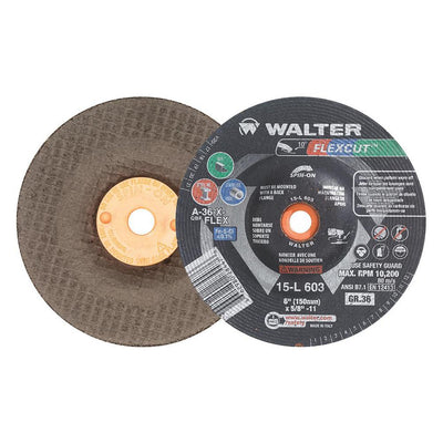 "Walter FLEXCUT™ Blending Disc 6"" x 5/8""-11 GR:36 Spin-on"