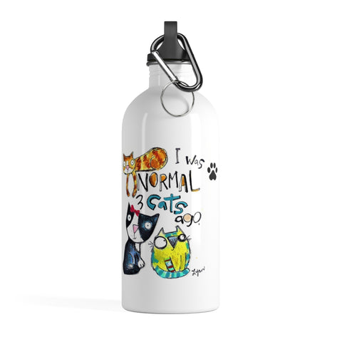 3 Cats Stainless Steel Water Bottle