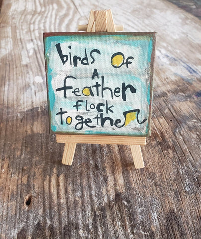 Birds flock together Mini Canvas