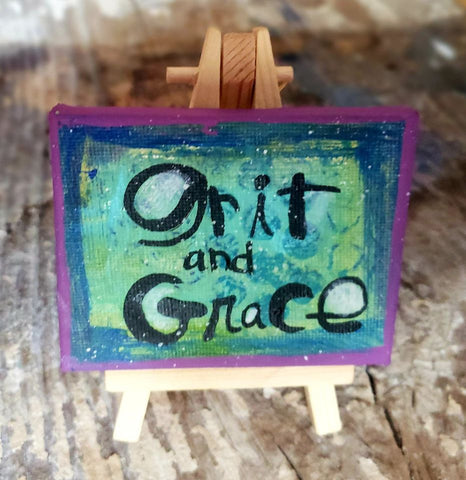 Mini Canvas & Easel-New GRIT GRACE
