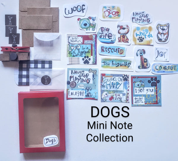 Mini Note Pack-Dogs WOOF