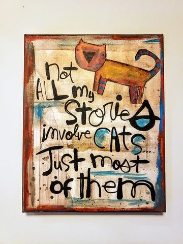Canvas Art- Cat stories